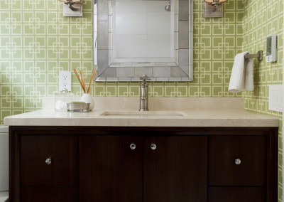 Walnut Vanity, CeasarStone surface